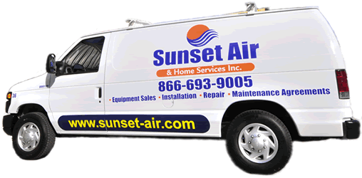 Sunset Air and Home Services - AC Company Van - 24 Hour Air Conditioning Contractor