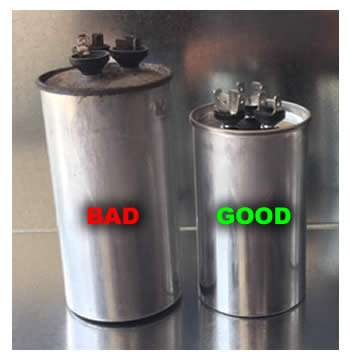 Good and Bad AC Capacitor Comparison - Large2