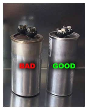 Good and Bad AC Capacitor Comparison - Small2