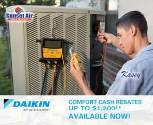 Daikin Comfort Cash Rebate - AC Replacement Naples FL - Sunset Air and Home Services