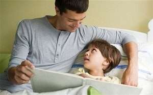 Father and son at bedtime - Thermostat setting - Fort Myers - Sunset Air Home and Home Services