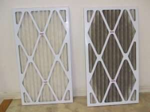 Air filter clean and dirty - Fort Myers - Sunset Air & Home Services