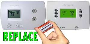 Replace thermostat batteries– AC Checklist for Snowbirds - Fort Myers - Sunset Air & Home Services