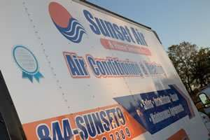 Your Air Conditioning Company Overcoming Adversity Truck Photo- Fort Myers - Sunset Air and Home Services - 300 x 200