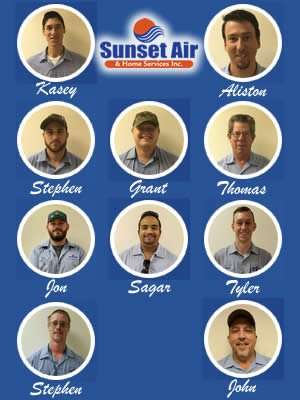 AC Service Department - Real AC Technicians - Sunset Air and Home Services - Fort Myers Florida - 300 x 400
