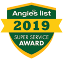 2019 Angies List Super Service Award Winners Logo - Fort Myers FL - Sunset Air and Home Services - 125 x 125