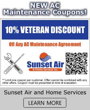 New AC Maintenance Coupons - Sunset Air and Home Services - Fort Myers FL - 300 x 365