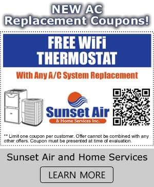 New AC Replacement Coupons - Sunset Air and Home Services - Fort Myers FL - 300 x 365