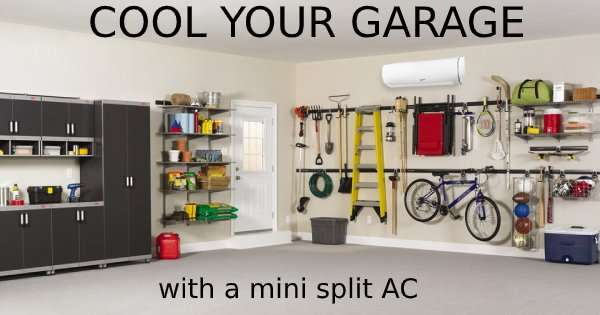 garage – Ductless Mini Split AC (Part 2 of 3)- Fort Myers - Sunset Air & Home Services