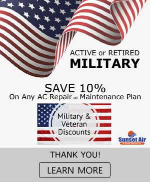 10 Discount For Veterans And Military - Sunset Air and Home Services - Fort Myers Florida