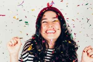 Girl celebrating AC rebate – Get an AC Rebate and more savings - Fort Myers - Sunset Air & Home Services
