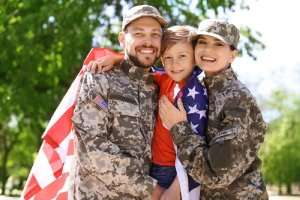 Happy Military family – 10% discount for veterans and military - Sunset Air & Home Services – Fort Myers