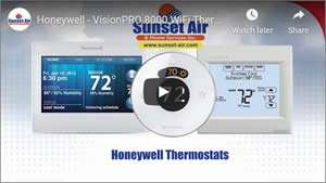 Honeywell Thermostat YouTube Video - Sunset Air and Home Services - Fort Myers Florida