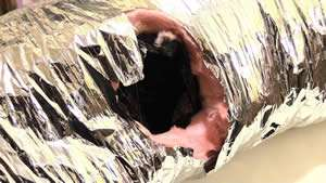 Leaking Damaged AC Duct - AC Repair - Sunset Air and Home Services - Fort Myers FL