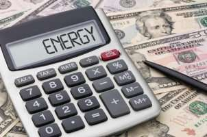 Money and calculator spelling ENERGY - Sunset Air and Home Services – Fort Myers - 300x200jpg