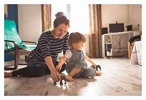 Mom and Baby Enjoy Daikin Heat Pump Air Handler - Sunset Air and Home Services - Fort Myers FL