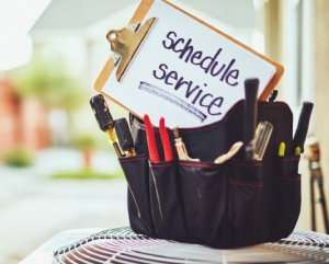 Schedule service sign in tool box-Sunset Air and Home Services-Fort Myers-300x241jpg