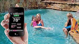 Family Swiming Controling Pool Temp From Smart Phone - Sunset Air and Home Services - Fort Myers