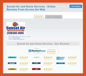 ReviewBuzz snapshot-Sunset Air and Home Services-Fort Myers-300x268jpg