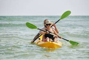 Couple kayaking together-Your Florida HVAC system(Part 3)-Sunset Air Home and Home Services-Fort Myers-300x201