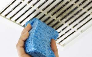 Cleaning vents with a sponge- Spring Forward with 9 Safety Checks-Sunset Air and Home Services-Fort Myers FL-300x187jpg
