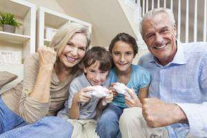 Grandparents and kids playing video games- Sunset Air Home and Home Services-Fort Myers-300x200