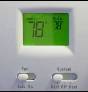 Thermostat at 78 on auto- 7 Ways to Save Money This Summer-Sunset Air and Home Services-Fort Myers-300x313